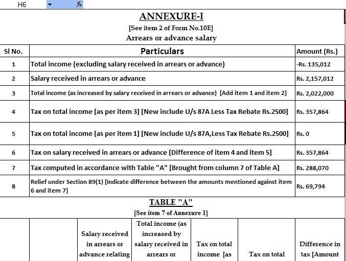 Automated Income tax Arrears Relief Calculator U/s 89(1) From the F.Y.2000-01 to F.Y.2020-2021[ Update Version ] U/s 115BAC in the Budget 2020 With New Tax Regime or Old – What should you pick?