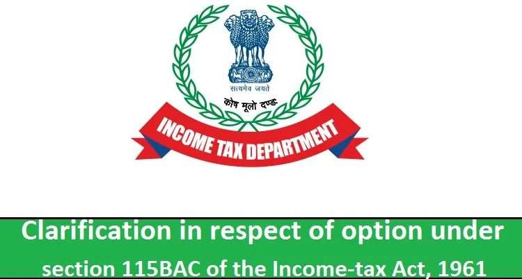 Income Tax Section 115 BAC